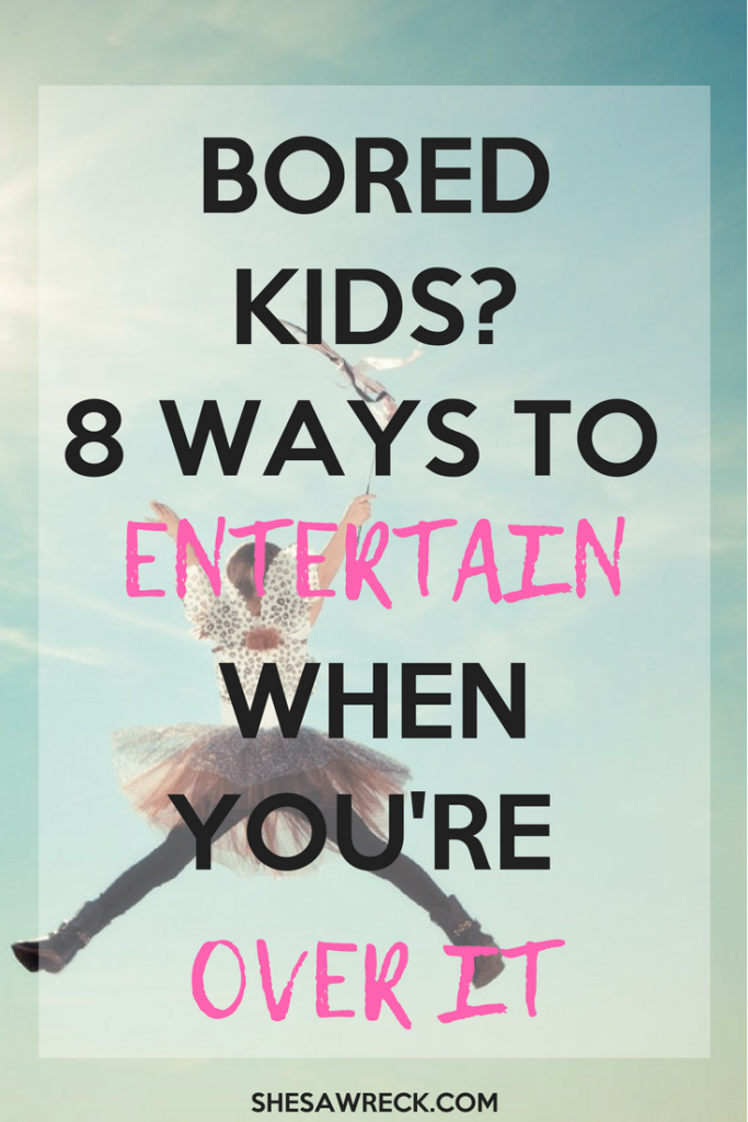 8 ways to entertain bored kids. Use these tips to entertain your children or have them entertain themselves #boredkids #kidsfun #busymoms #tiredmoms #entertainment #kidsentertainment #indoorplay #indooractivites #activitesforkids #kidsfun #boredchildren #winteractivites #fallactivites