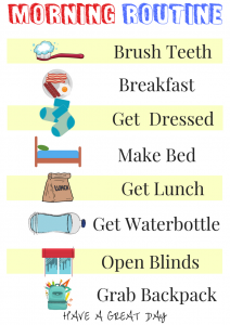 Back to school morning routine checklist #backtoschool #printable #backtoschoolfreebie