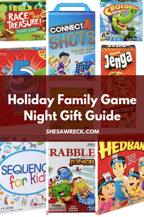 Give a gift for the whole family, Family Game Night Gift Guide #holidaygiftguide #giftguide #gamenight #holidaygifts #boardgames #2018boardgames #christmas #christmasgiftguide #giftsforfamily